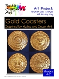 Gold Coasters Inspired by Aztec and Incan Art: Clay Art Le