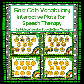 Gold Coin SMUSH boards-Playdough Mats for Speech and Language
