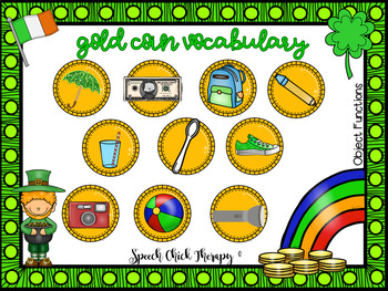Gold Coin Vocabulary Mats for Speech Therapy