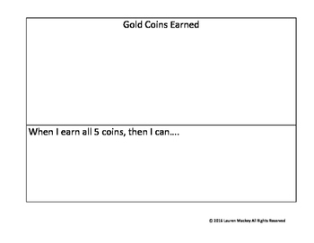 Gold Coins Behavior Chart
