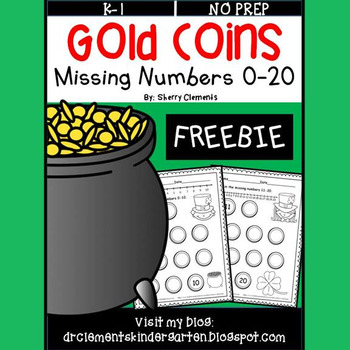 FREE DOWNLOAD : Gold Coins Missing Numbers 0-20