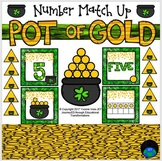 Pot of Gold Numbers Match Up Math Center