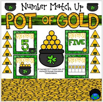 Gold Coins Numbers Match Up