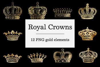 Gold Crown Clipart, Royal Crowns Images, King Crown, Queen Crown, Royal Clipart