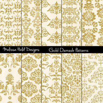 Damask Patterns: Gold