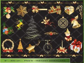 Gold Design Christmas Clip Art