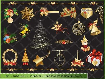 Gold Design Christmas Clip Art