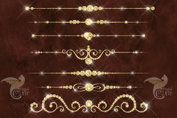 Gold Diamond Dividers Clipart