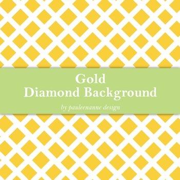 Gold Diamond Pattern Background