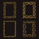Gold Digital Frames Clipart, Gold Foil Photo Frames, Confetti Borders