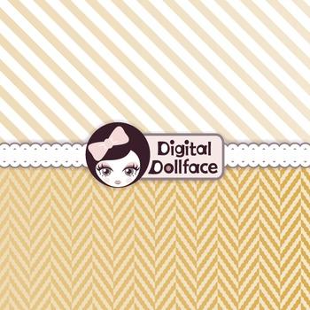 Gold Digital Paper / Metallic Pattern, Background Pack