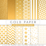 Gold Digital Paper, scrapbook backgrounds