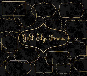 Gold Edge Frames PNG gold foil vintage frame Clipart