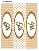 Gold Elegance 1 --- 3-drawer Labels --  Editable & Pre-populated