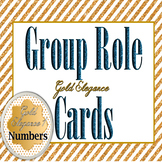 Gold Elegance 1 -- Gorgeous Table/Desk/Calendar Numbers 1-31 & Group Role Cards