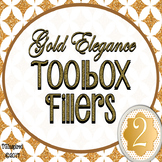 Gold Elegance 2 --- Teacher's Tool Box Labels