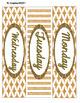 Gold Elegance 2 --- 3-drawer Labels --  Editable & Pre-populated
