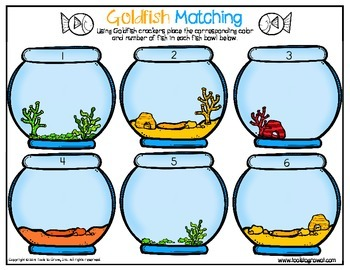 Gold Fish Fine Motor Matching