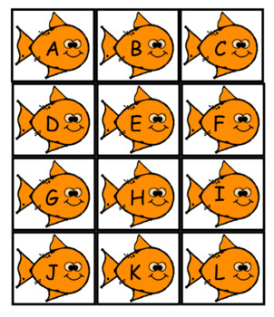 Gold Fish GO FISH Letters and numbers