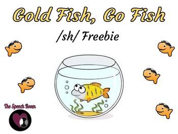 Gold Fish, Go Fish - /sh/ Freebie!
