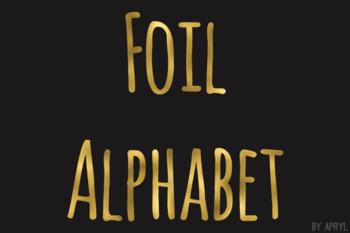 Gold Foil Alphabet Clip Art Metallic Look 81 PNG Images Letters Numbers