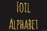Gold Foil Alphabet Clip Art Metallic Look 81 PNG Images Le