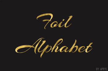 Gold Foil Alphabet Clip Art Metallic Look 81 PNG Images Letters Numbers