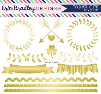 Gold Foil Clipart Graphics