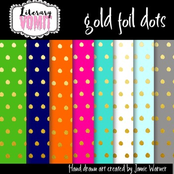 Gold Foil Dot Papers