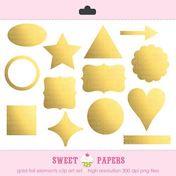 Gold Foil Shapes - by Sweet Papers