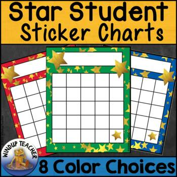 Star Student Gold Foil Incentive Reward Sticker Charts