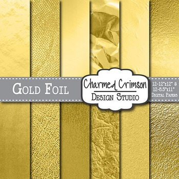 Gold Foil Texture Background Digital Paper 1359