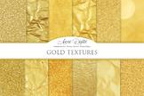 Gold Foil Textures Golden Background Digital Paper scrapbook foil