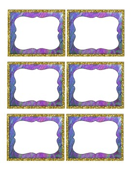 Gold Framed Classroom Labels
