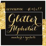 Gold Glitter Alphabet + symbols