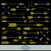 Gold Glitter Arrows Clipart Tribal Clip Art Scrapbooking A