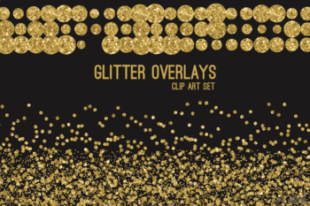 Gold Glitter Confetti Overlays 20 PNG Clip Art for 12x12 Papers