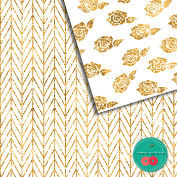 Gold Glitter Digital Paper