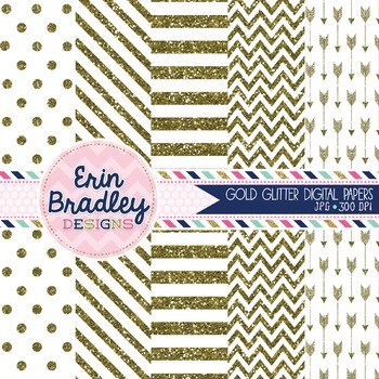 Gold Glitter Digital Papers