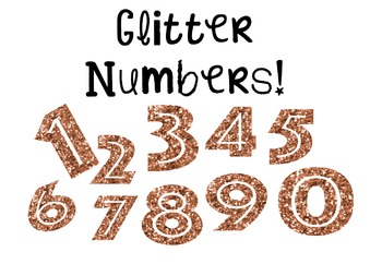 Gold Glitter Numbers!