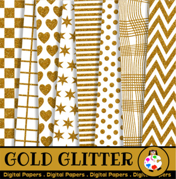 Gold Glitter Paper Patterns
