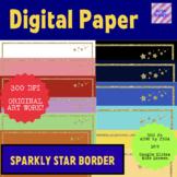 Gold Glitter Star Digital Paper for widescreen Google Slides