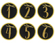 Gold Glitter- Student Number Labels