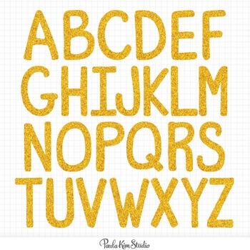 Alphabet - Gold