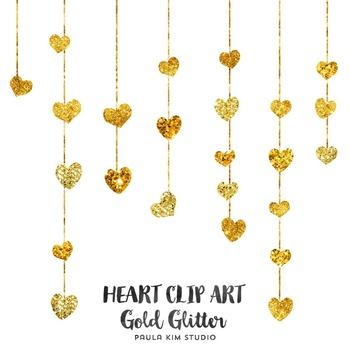 Gold Heart Clip Art