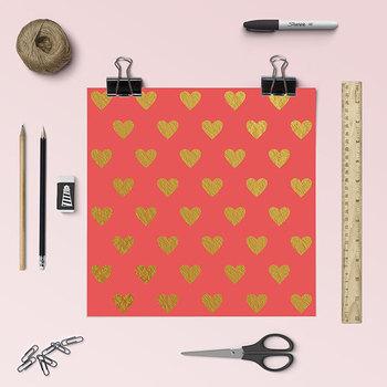 Gold Heart Digital Paper {Pretty Graphics}