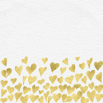Gold Hearts Frame Clipart, Gold Foil Clipart