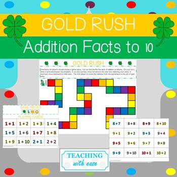 Gold Hunt!  Addition Facts Board Game