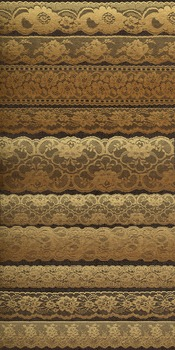 Gold Lace Borders and Overlays Clipart Scrapbook Embellishments