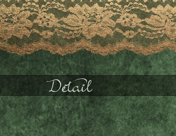 Gold Lace Green Velvet Digital Paper Textures Backgrounds